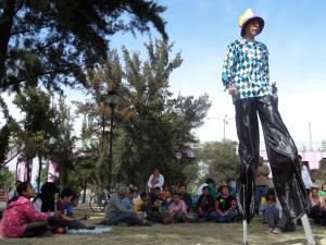 Obra de teatro organizada por vecinos de Iztapalapa
